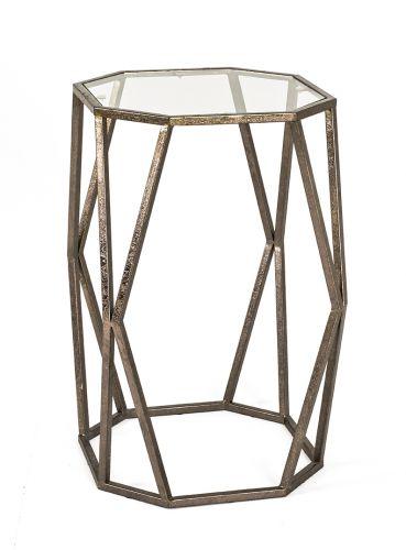 Beistelltisch antik metall  Beistelltisch Antik Bronze Messing, Metall Glas Vintage Tisch ...