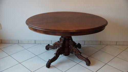 Antiker couchtisch wohnzimmertisch oval massiv l wenf e geschwungen ebay - Wohnzimmertisch oval ...