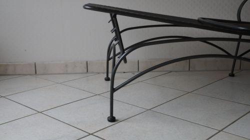 Gartenliege metall  Gartenliege Metall anthrazit   eBay